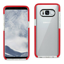 New REIKO SAMSUNG GALAXY S8/ SM SOFT TRANSPARENT TPU CASE IN CLEAR RED - $9.34