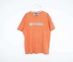 Vintage 90s Nautica Mens Medium Spell Out Distressed Short Sleeve T Shir... - $24.70