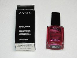 Avon Mosaic Effects Top Coat Fiery Fuchsia 12 ml 0.4 fl oz polish mani pedi - $10.67