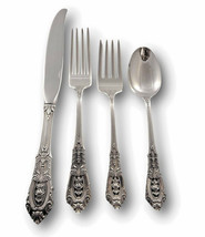Rose Point by Wallace Sterling Silver Flatware Set For 4 Service 16 Pieces - $629.10