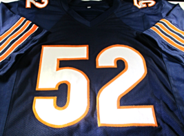 KHALIL MACK / AUTOGRAPHED CHICAGO BEARS BLUE CUSTOM FOOTBALL JERSEY / COA image 2