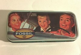 """Vintage Fossil Timely Watch Empty Tin Can 5.5"""" X 2"""" X1/2"""" Man Woman Chil... - $10.64"""