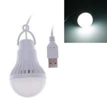 3W/5W LED Energy Saving USB Bulb Light Camping Home Night Lamp Hook Swit... - $1.79