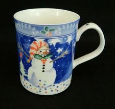 "Epoch Noritake ""Mr. Snowman"" Mug Coffee Cup Christmas Holidays - $16.82"