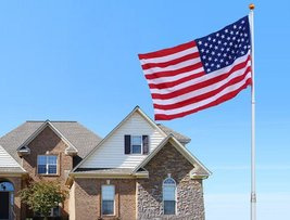 20 Ft Telescopic Aluminum Flagpole W/ 3'x5' American Flag (FREE SHIPPING) - $105.00