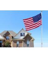 20 Ft Telescopic Aluminum Flagpole W/ 3'x5' American Flag (FREE SHIPPING) - $105.00