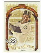2016 Allen and Ginter Numbers Game #NG-77 Robinson Cano NM-MT Mariners - $0.99