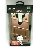 Zizo Bolt Cover For LG LS775 Rose Gold With Tempered Glass Protection & ... - $8.68