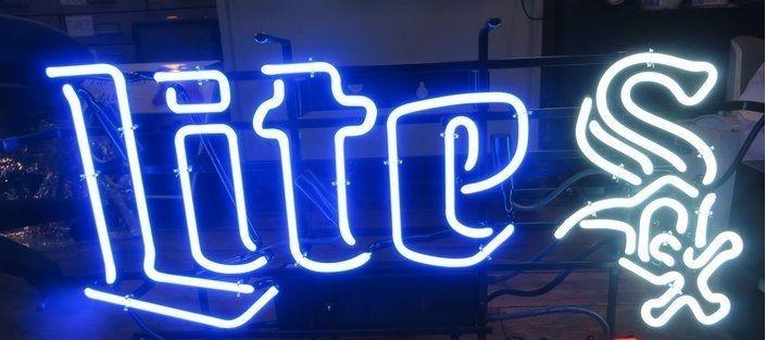 """New Chicago White Sox Miller Lite Beer MLB Neon Sign 24""""x20"""""""