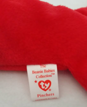 TY Beanie Babies Pinchers Lobster PVC PELLETS Style # RARE ERRORS Retired image 4