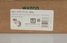 Watco 901 PP PVC BN Brushed Nickel Innovator Push Pull Half Kit image 5