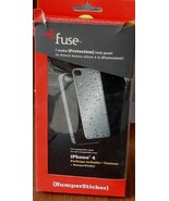 Fuse iPhone 4 {Bumbersticker} - Shiny Silver Wet Look - BRAND NEW IN PAC... - $6.92