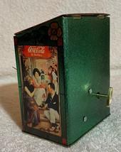 Old 1981 Coke Coca Cola X'max Tin Tank Cans Desk Table Music Box + Quartz Clock image 4