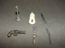 Clue Replacement Part: Complete Set of 6 Weapons [Parker Brothers 1979] - $8.00