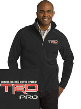 Toyota TRD Pro Black Embroidered Port Authority Core Soft Shell Jacket NEW - $39.99