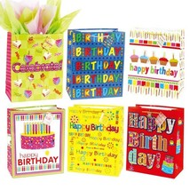 7 1/2W x 9H x 4G Medium How Many Candles B-Day Bag - 6 Design, Case of 180 - $212.35