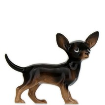 Hagen Renaker Dog Chihuahua Small Black and Tan Ceramic Figurine