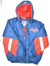 Vtg New England Patriots NFL Football Starter Hooded Puffy Jacket Sz Large - $296.99