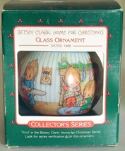 1988 Hallmark Betsey Clark Home for Christmas Ornament Ball In Original Box - $11.88