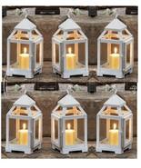 6 WHITE Iron Mini Contemporary Candle Lanterns Wedding Centerpieces 1001... - $62.87
