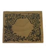 Rubber Wood Stamp Stamping Crafting Mail Letters Flowers Bird Gift Tag P... - $9.89