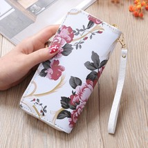 Wallet Female Floral Print Leather Zipper Long Wallets Flower Coin Phone... - $16.00