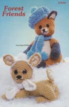 Forest Friends, Annie's Crochet Pattern Booklet 87E40 Fox Deer Raccoon &... - $16.95