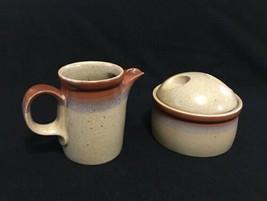 Mikasa Potters Art Ben Seibel Design Creamer & Sugar Bowl with Lid PD19 - $21.98