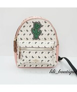 NWT New Coach F59330 Mini Charlie Backpack Canvas Butterfly Bandana Blush Chalk - $179.95