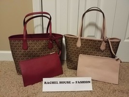 Michael Kors Lg Reversible Candy Tote W/ Matching Clutch NWT - $136.80