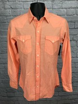 Ralph Lauren Black Label Orange Lightweight Long Sleeve Button Front Shirt Sz S - $27.43