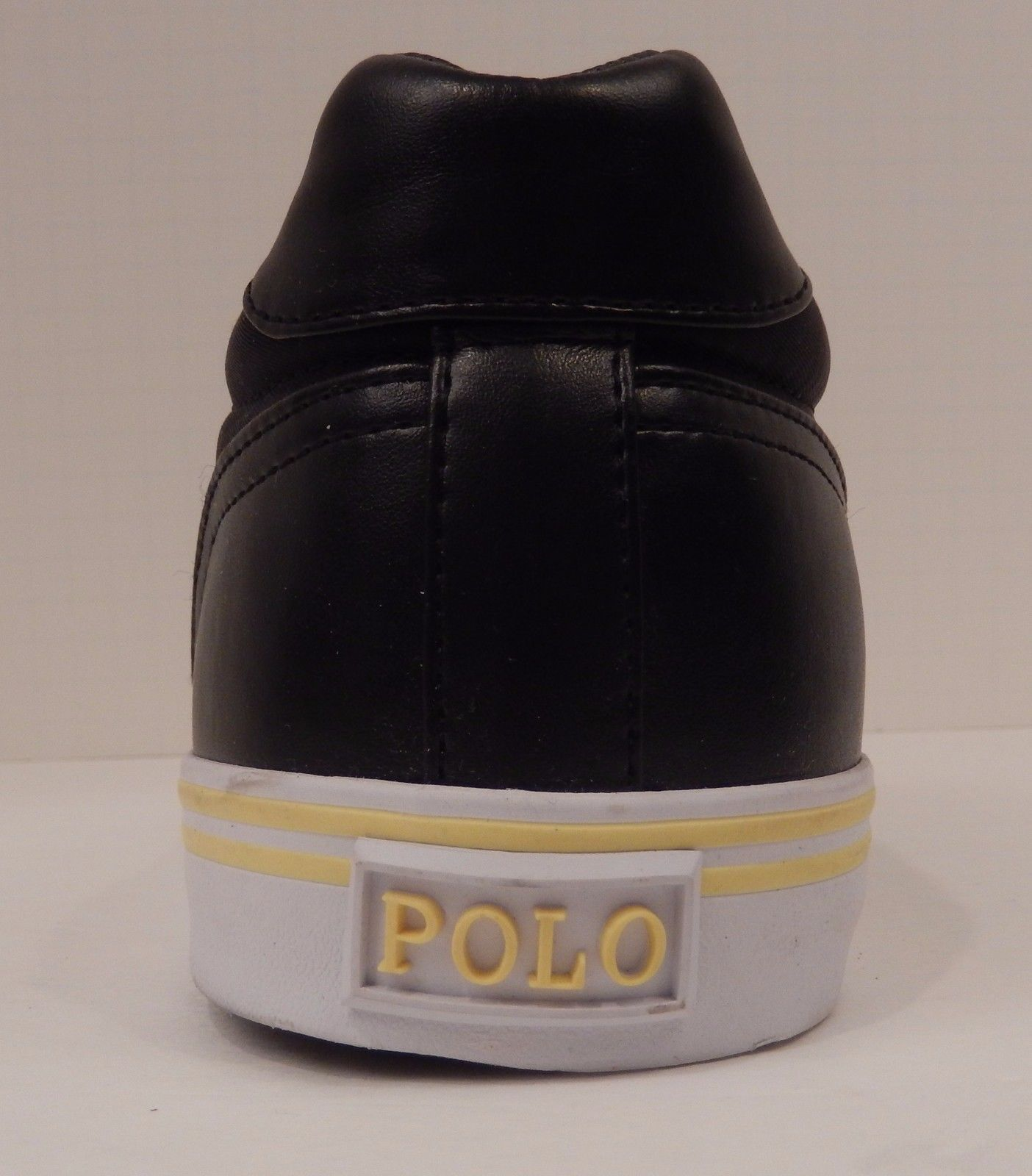 POLO RALPH LAUREN MENS SIZE 13 TO 16 BLACK NAVY BLUE FASHION SNEAKER HANFORD