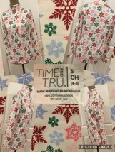 New! Time & Tru Turtleneck Colorful Snowflake Size Small 100% Cotton Chr... - $4.94