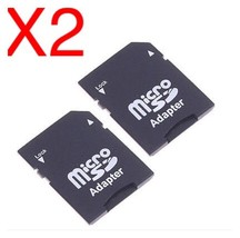 2X SD Card Micro SD TF to SD SDHC Memory Card Adapter.                       C28