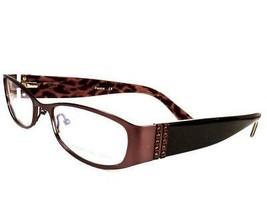 Carmen Marc Valvo Paloma Brown Leopard Women Eyeglasses 53-187-135 - $97.97