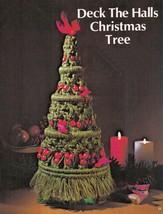Vtg Macrame Xmas Stocking Tree Candy Cane Jewelry Santa Wreath Place Mat... - $13.99