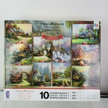 New2014 Ceaco Thomas Kinkade Collector Edition 10 In 1 Multi Jigsaw Puzzle Set  - $45.52