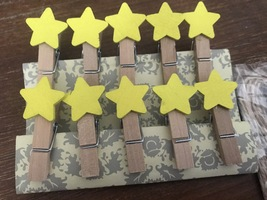 30pcs Yellow Star Clothespin,gift clips,photo clip,paper clips,Party Dec... - $3.90
