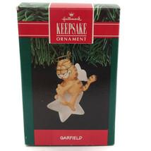 Garfield The Cat As Angel Sitting On Star Vtg Christmas Tree Keepsake Ne... - $11.85