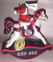 Danbury Boston Red Sox Team Porcelain Christmas Ornament 2007 Rocking Horse - $24.75