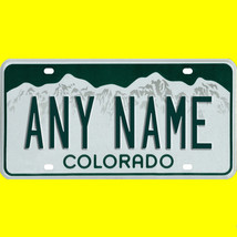 1/43-1/5 scale custom license plate set any brand RC/model car - Colorad... - $11.00
