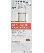 Face Moisturizer with SPF 30 by L'Oreal Paris, Revitalift Bright Reveal ... - $14.95