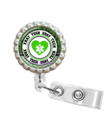 Green X-Ray Tech Retractable Reel ID Name Tag Badge Holder - 1.9 - $10.00