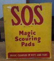 Vintage Box S.O.S Magic Scouring Pads BOX 1950s  - $12.32