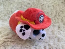 Ty Paw Patrol MARSHALL White Red Fireman Plush Beanie Boo  - $7.38