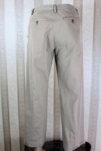 Banana Republic Men's 32 X 30(28) Khaki Beige Flat Front Pants Chinos Euc - $27.08
