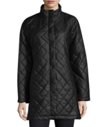 NWT $550 Eileen Fisher Quilted Jacket Coat, XS, black, Fit 4 6 - $219.84