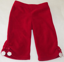 Gymboree Red Snowflake Fleece Pants Size 6-12 Months Baby Girls Infant S... - $9.70