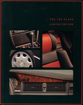 1993 Mercedes-Benz 190 CLASS LIMITED EDITION brochure catalog E 2.3 2.6 US - $15.00