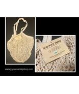 "Market Bag Hand Crochet 100% Organic Cotton Vegetable Fruit Tote 14"" - $7.99"